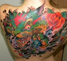 лучшие цветные татуировки для девушек фото