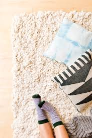 diy rug from scratch paper and stitch