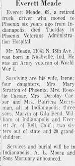 Obituary for Everett Meade (Aged 69) - Newspapers.com