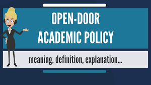 what does open door academic policy mean