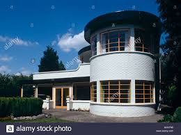 The Sun House in Cambridge UK. A grade 2 listed home in Art Deco style  built in 1938 by Architects Mullet and Denton Smith