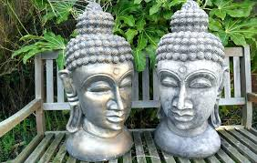 garden fountain large head statue with and chair from interesting buddha extra ornament
