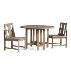 Indio Round Drop Leaf Dining Table Chair Set Pottery Barn Ca