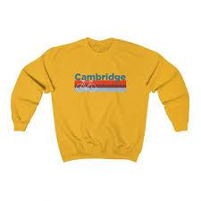 Cambridge Massachusetts Sweatshirt Retro Bike Adult Unisex Cambridge Sweatshirt