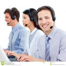 customer service agents working in a call center royalty customer service agents working in a call center