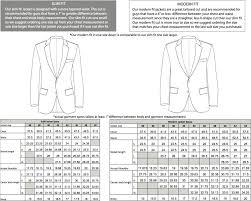 Suit Jacket Size Chart Sizing Charts The Groomsman Suit