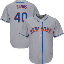 Majestic Replica Wilson Ramos Mens Grey Mlb Jersey 40