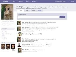 facebook template for student projects. facebook in spanish spanishplansorg botticelli according to a 7th