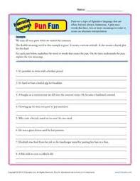 irony in poetry worksheets common core standards and core standards figurative language pun fun