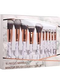 10pcs makeup brushes professional blush brush eyeshadow brush makeup brush set powder brush synthetic hair eco friendly professional soft marble