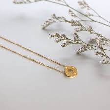 gold compass necklace gold dipped compass charm minimalist necklace dainty chain necklace
