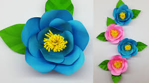Color Paper Flower Design Colors Paper Paper Flower Camellia Making With Template