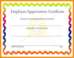 Recognition Awards Certificates Template Employee Recognition Awards Templates Appreciation Award