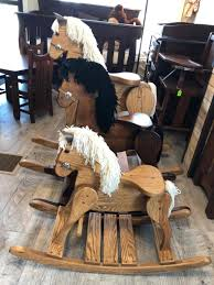 amish handcrafted rocking horse from amish furniture located in evansville in