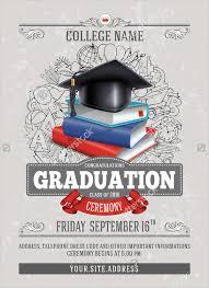 Graduation Program Template Pdf 46 Sample Graduation Invitation Designs Templates Psd Ai