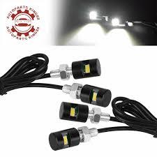 Bolt Beam 12mm Led Light 4x White Car License Plate Screw Bolt Light Bulbs Lamp Led Smd Motorcycle 12v