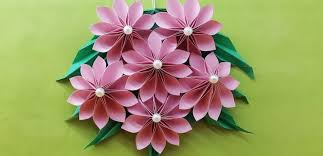 origami easy paper flower paper flower wall hanging diy handmade craft wall decoration