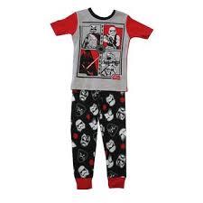 gray boys pajamas kmart star wars big boys gray black short sleeve 2 pc pajama set 8 10