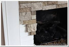 exquisite ideas diy fireplace makeover airstone fireplace makeover on a diy budget inmyownstyle