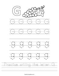 practice writing the letter g worksheet ctok=