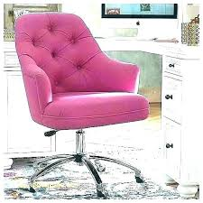pink office chair with arms velvet desk startling tufted for hot fur full size