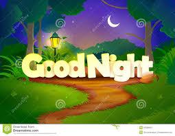 Good Night Wallpaper Background Stock Vector Illustration