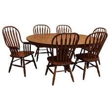 60 amish mission round dining set 6 w 1 leaf