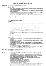 Resume For Engineering Job Sales Application Engineer Resume Samples Velvet Jobs 19