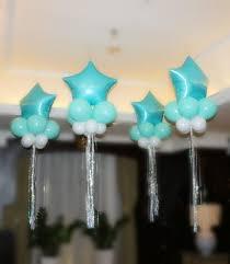 Turquoise Star Balloon Set Jumbo Balloon Silver Tassels Teal Aqua Blue Bridal Shower Bachelorette Party Decorations Hens Do Floating Balloon