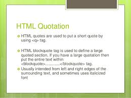 Html Quote Stunning Html