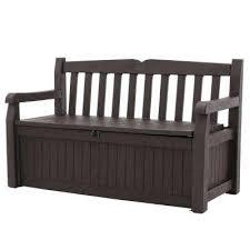 eden 70 gal outdoor garden patio deck box storage bench