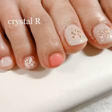 春夏フットホログラムワンカラー Crystal R Private Salonの