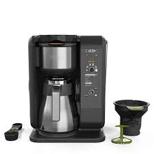 A thermal coffee maker uses the coffee's own heat to keep it hot, rather than stewing it on a hotplate. Ninja Hot And Cold Brew Thermal Coffeemaker Cp307 Blain S Farm Fleet