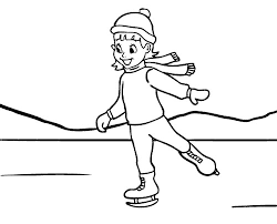 Winter Girl Ice Skating Coloring Page Kids Pages 423310 Best Free