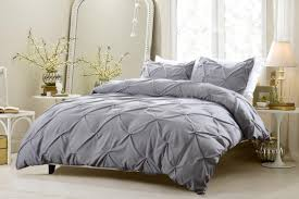 save 25 oversized for pillow top 4pc pinch pleat design gray bedding set includes comforter and duvet