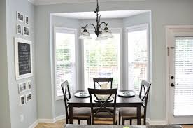 Decorating Ideas  Compartment House Building Ideas With Bright - Bay window in dining room