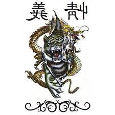 Nalepovaci Tetování Drak Tygr Karnevalové Kostýmy A škrabošky