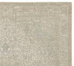 pottery barn fahari printed sage multi 5 x 8 wool area rug new