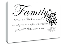 Canvas Wall Art Quotes Delectable Canvas Wall Art Quotes Family Like Branches On A Tree White Text