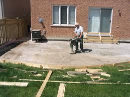 modern concrete patio designs. Backyard Concrete Patio Ideas Midcentury Epansive Modern Designs L
