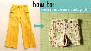 Make Pants How To Make Shorts From A Pants Pattern Made By Rae