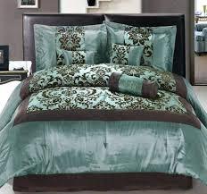 nice teal and brown bedding or comforter set chocolate sets