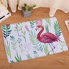 ochine 40 x 60cm flannel flamingo printed decorative area rug small non slip backing soft floor mat carpet tiles design carpet tiles for kitchen from