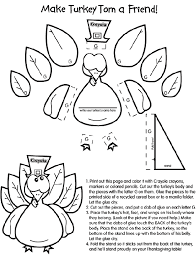 Small Picture Thanksgiving Coloring Pages Cut Outs Turkey Cut Out Template