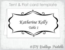 Blank Name Card Template Tent With Place And Flat Flash Cards ...