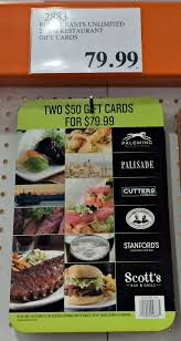 Chart House Gift Card Costco Costco Gift Card Save On Dining Entertainment And Gifts