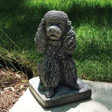 dog garden statue. Poodle Statue Dog Garden A