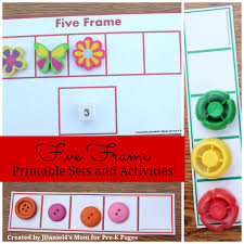 five frame printable sets and activities