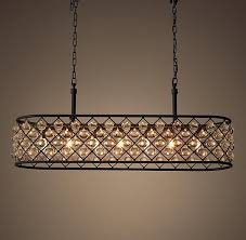 rectangular dining room lighting. lighting the spencer collectionu0027s crystal glass spheres hang like gems within its iron grid dining room rectangular l