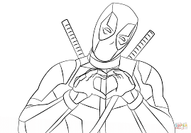 Small Picture Logo Deadpool Simple Coloring Pages Printable Coloring Coloring